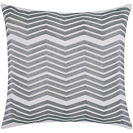 "Silver Thick Chevron 20"" x 20"" Decorative Pillow By Nourison"