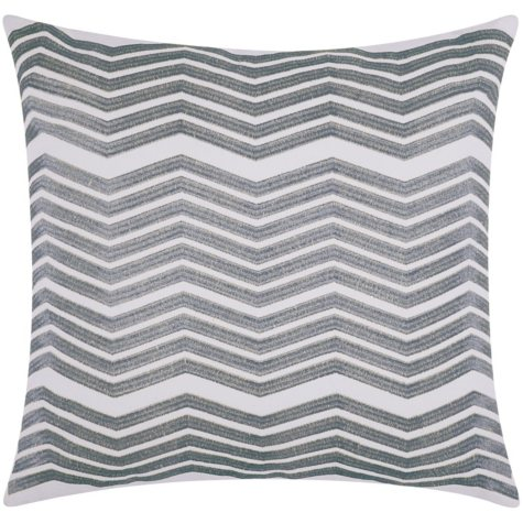 "Silver Thick Chevron 20"" x 20"" Decorative Pillow By Nourison"