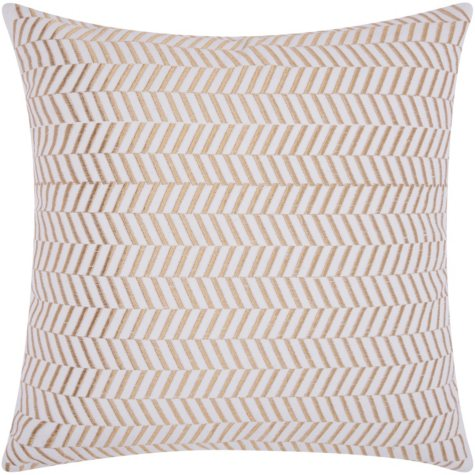 "Gold Alternative Chevron 20"" x 20"" Decorative Pillow By Nourison"