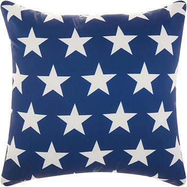 Mina Victory Stars Navy White Outdoor Throw Pillow Sam S Club