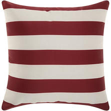 Mina Victory Stripes Red/White Outdoor Throw Pillow