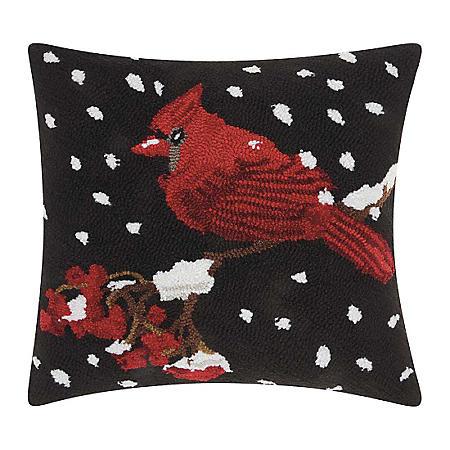 Nourison Cardinal and Snow Decorative Pillow