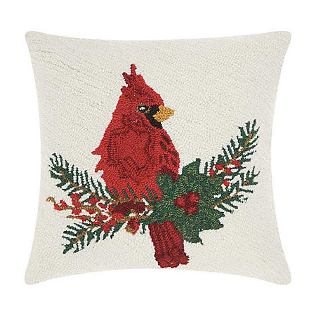 Nourison Cardinal and Holly Decorative Pillow