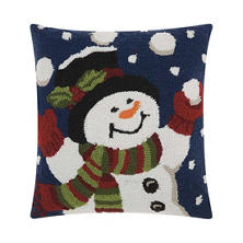 Nourison Juggling Snowman Decorative Pillow