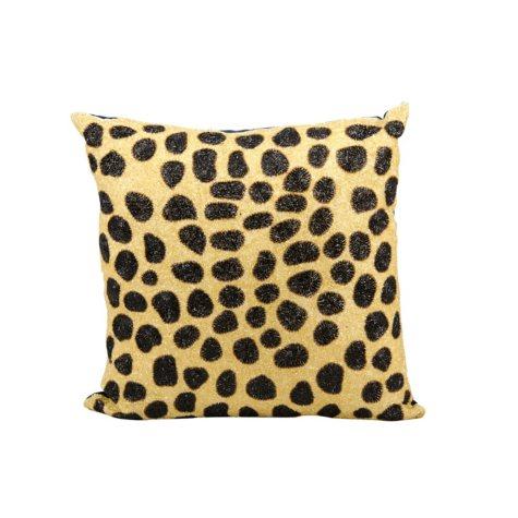 """Beaded Leopard 20"""" x 20"""" Decorative Pillow By Nourison"""