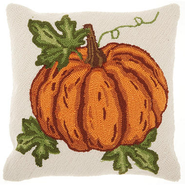 Mina Victory Home For The Holiday Harvest Pumpkin Multicolor Throw Pillow
