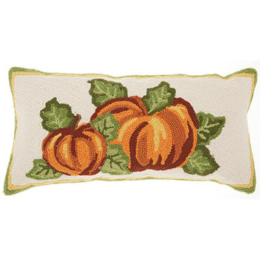 Mina Victory Home For The Holiday Pumpkin Patch Multicolor Throw Pillow