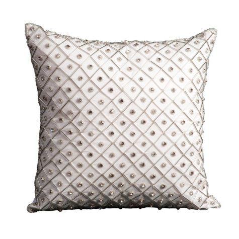 "Ivory Bridal Diamonds 16"" x 16"" Decorative Pillow By Nourison"