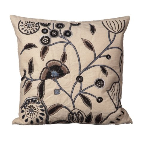 "Ivory Floral 20"" x 20"" Decorative Pillow By Nourison"