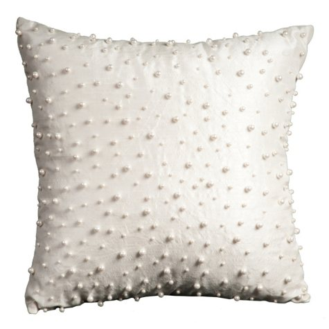 "Ivory Random Pearls 20"" x 20"" Decorative Pillow By Nourison"