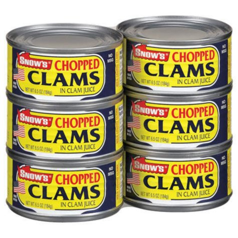 Snow's Chopped Clams - 6 pk / 6.5oz
