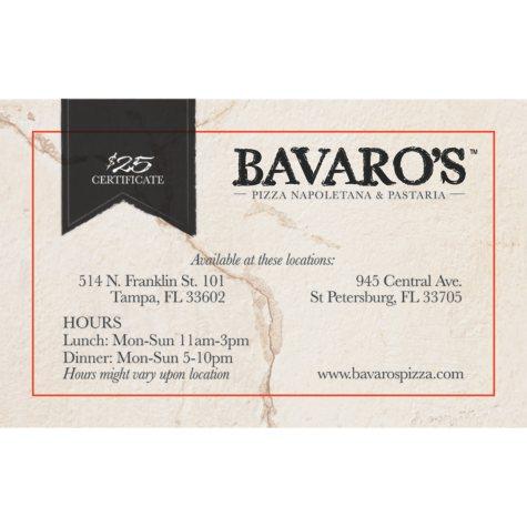 Bavaro's Pizza Napletana & Pastaria - 2 x $25