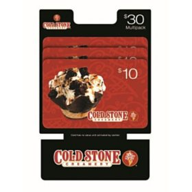 Cold Stone Gift Cards- 3 x $10