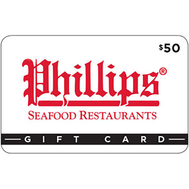 Phillips Seafood Gift Card - 2 x $50