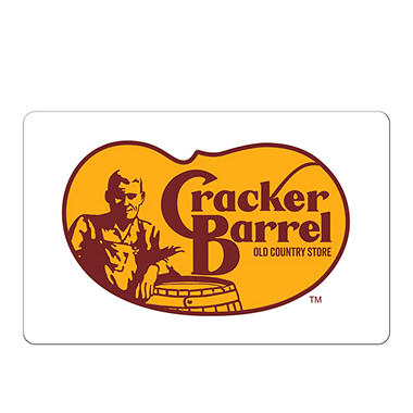 Cracker Barrel eGift Card - Various Amounts (Email Delivery)