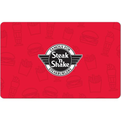 Steak 'n Shake eGift Card - Various Amounts (Email Delivery)