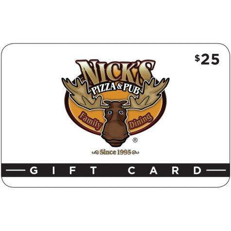 Nick's Pizza & Pub - 2 x $25