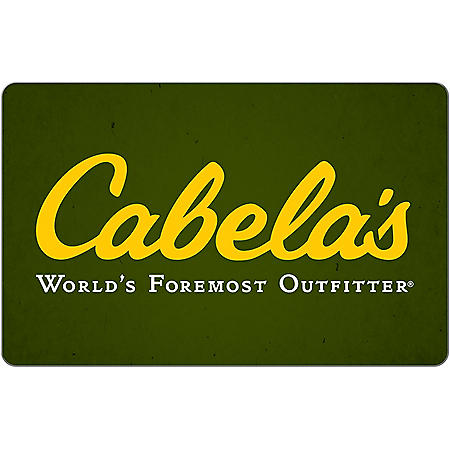 Cabela's eGift Card (Email Delivery) - Various Amounts