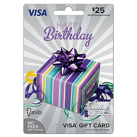 Vanilla Visa® Happy Birthday Party Box $25 Gift Card