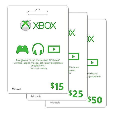 Xbox Live Gift Card - Various Amounts