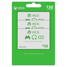 Xbox Live $30 Multi-Pack - 3/$10 Gift Cards