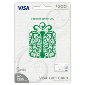 Vanilla Visa® Specialty Scroll Box Green $200 Gift Card