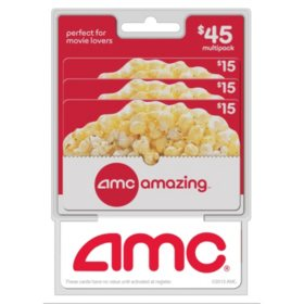 AMC Movie Theatres Gift Cards - 3 x $15