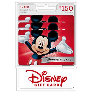 disney 150 value gift cards 3 x 50 sam s club