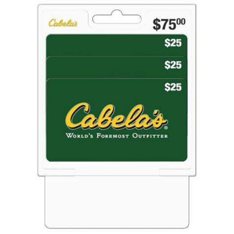 Cabela's $75 Value Gift Cards - 3 x $25