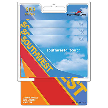 Southwest Airlines 150 Multi Pack 3 50 Gift Cards