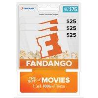 3x $25 Fandango Movies Gift Cards