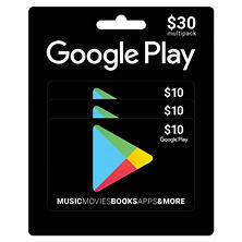 Google Play Multipack Gift Cards- Various Amounts