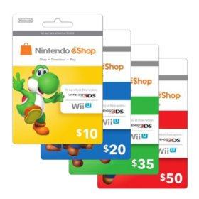 Nintendo eShop Gift Card - Various Amounts