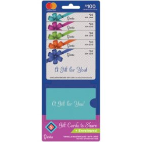 Vanilla® Mastercard® $100 Value Gift Cards - 5 x $20