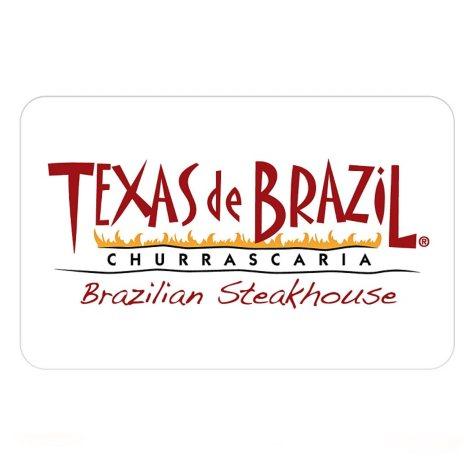 Texas de Brazil Brazilian Steakhouse $100 Gift Card for $79.98