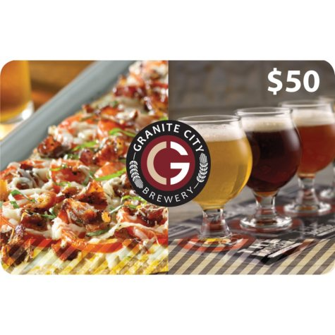 Granite City Food & Brewery $100 Value Gift Cards - 2 x $50