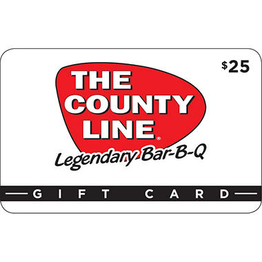 County Line (TX, NM) $50 Value Gift Cards - 2 x $25