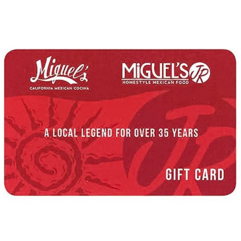 Miguel's $50 Value Gift Cards - 5 x $10