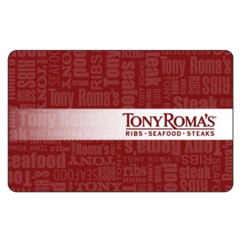 Tony Roma's Gift Cards - 2 x $25