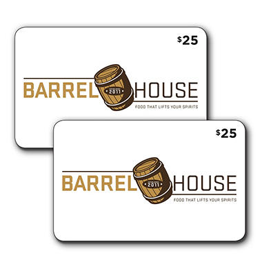 Barrel House 2 x $25 for $40