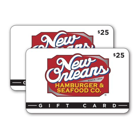 New Orleans Hamburger & Seafood Co. $50 Value Gift Cards - 2 x $25