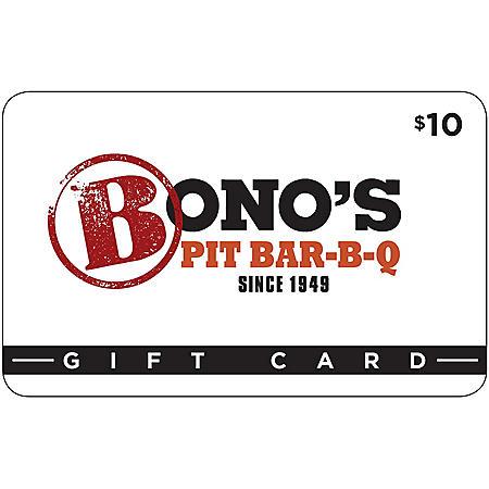 Bono's Pit BBQ Gift Card - 5/$50