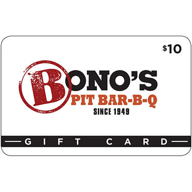 Bono's Pit BBQ Gift Card - 5/$50