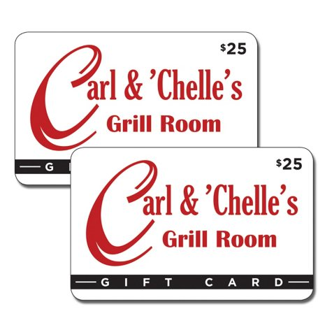 Carl and Chelle's Grill Room $50 Gift Card - 2/$25