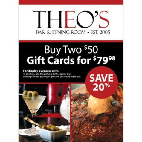 Theo's $100 Gift Card - 2/$50