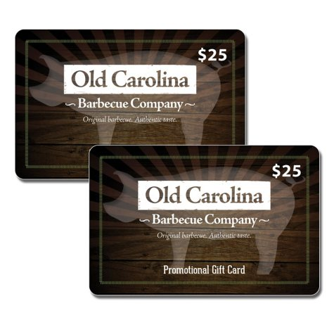 Old Carolina Barbecue (OH, MI) $50 Value Gift Cards - 2 x $25