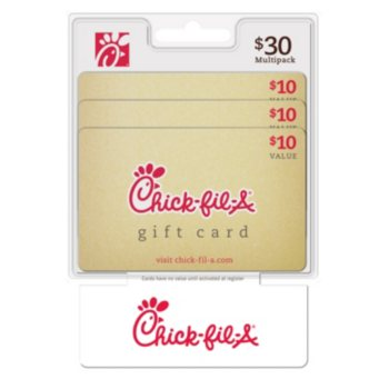 $30 Chick-fil-A Value Gift Cards (3 x $10)