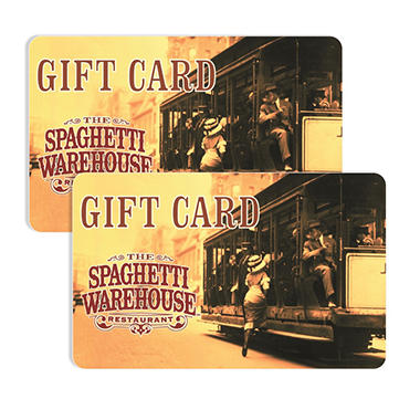 Spaghetti Warehouse $50 Multi-Pack - 2/$25 Gift Cards for $39.98