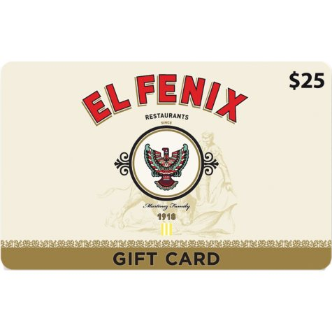 El Fenix (TX) Gift Card $50 Value Gift Cards - 2 x $25
