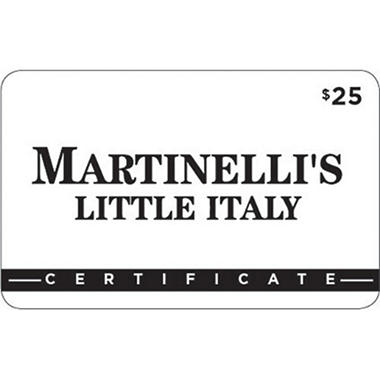 Martinelli's Little Italy Gift Card -  2/$25